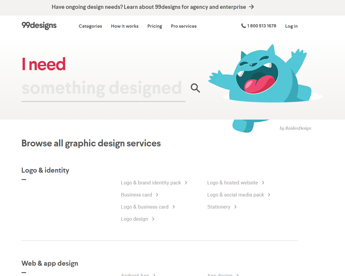 freelance websites 99designs
