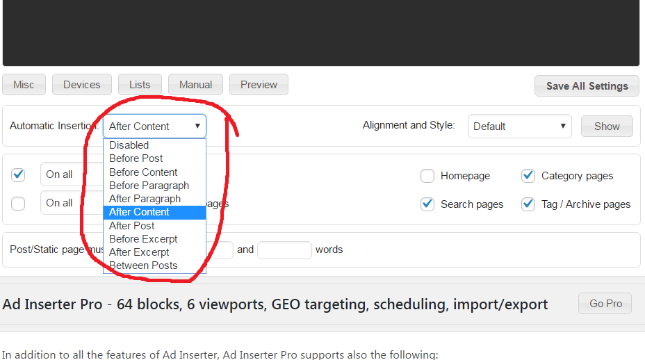 how to insert ads into your WordPress blog