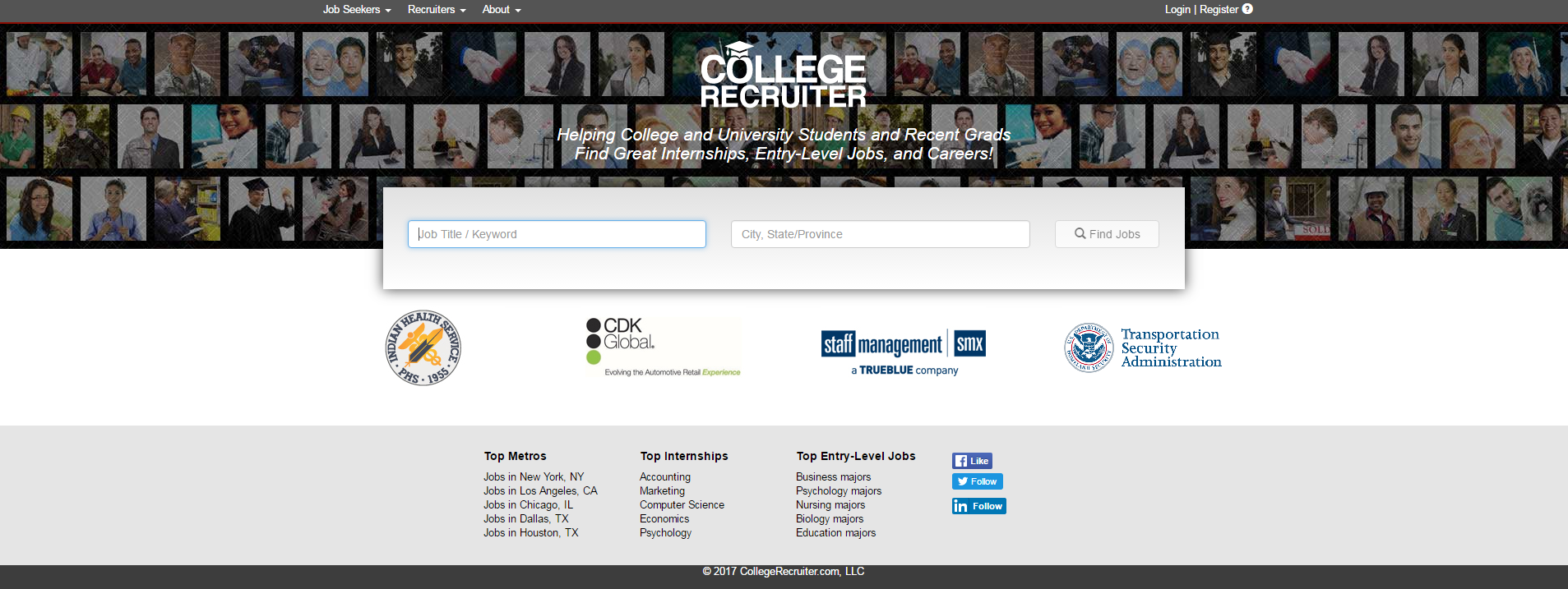 freelance websites college recruiter