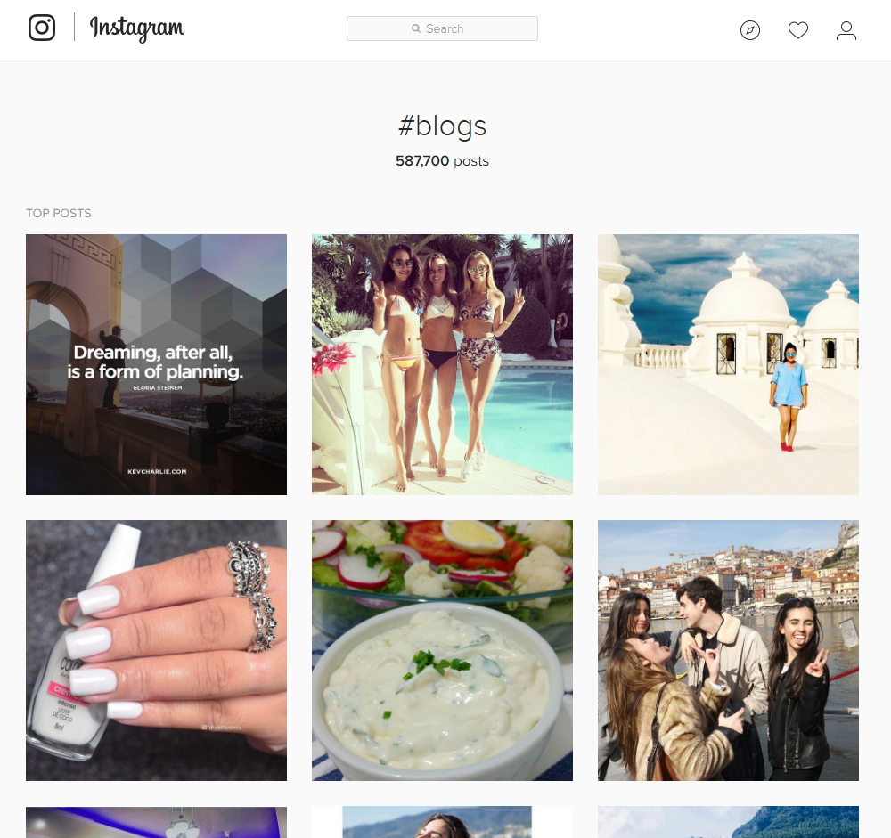 promote your blog using instagram