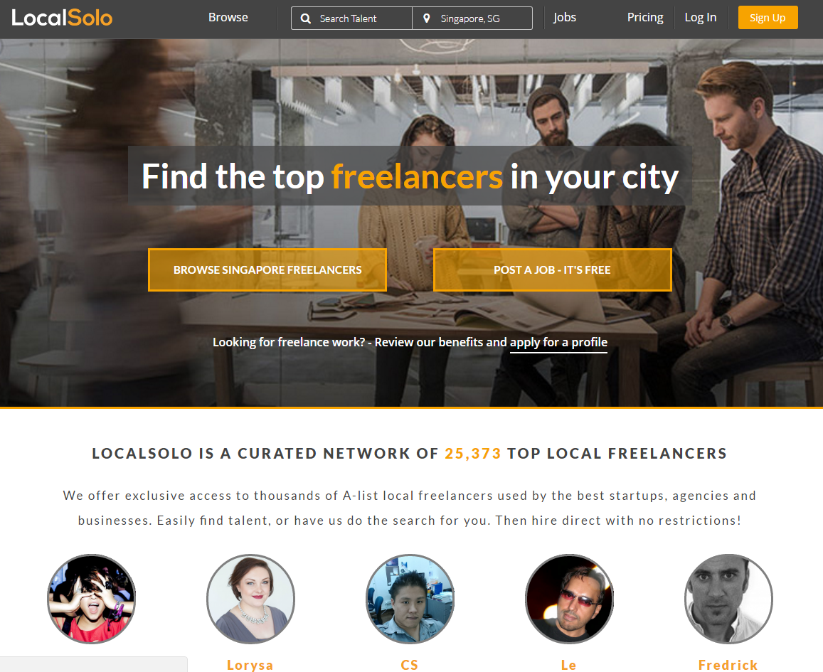 freelance websites localsolo