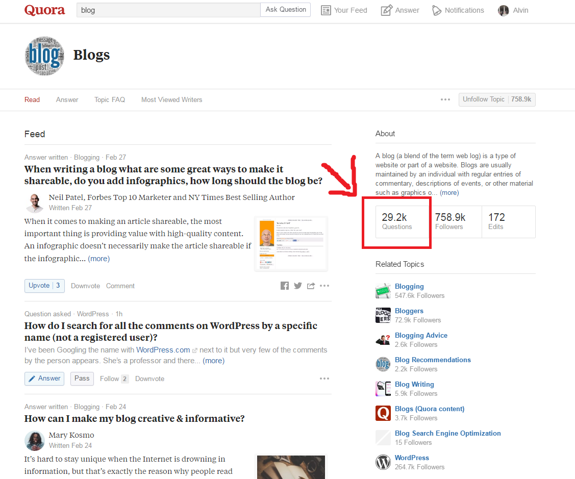 drive traffic to your blog using quora