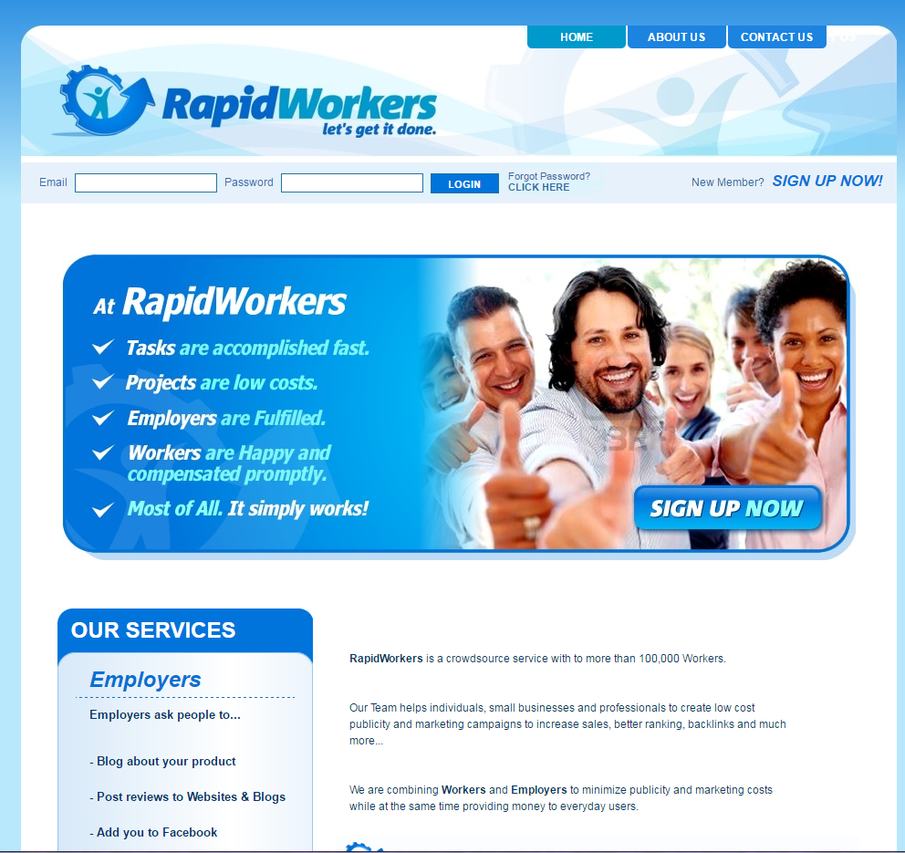 freelance websites rapidworkers