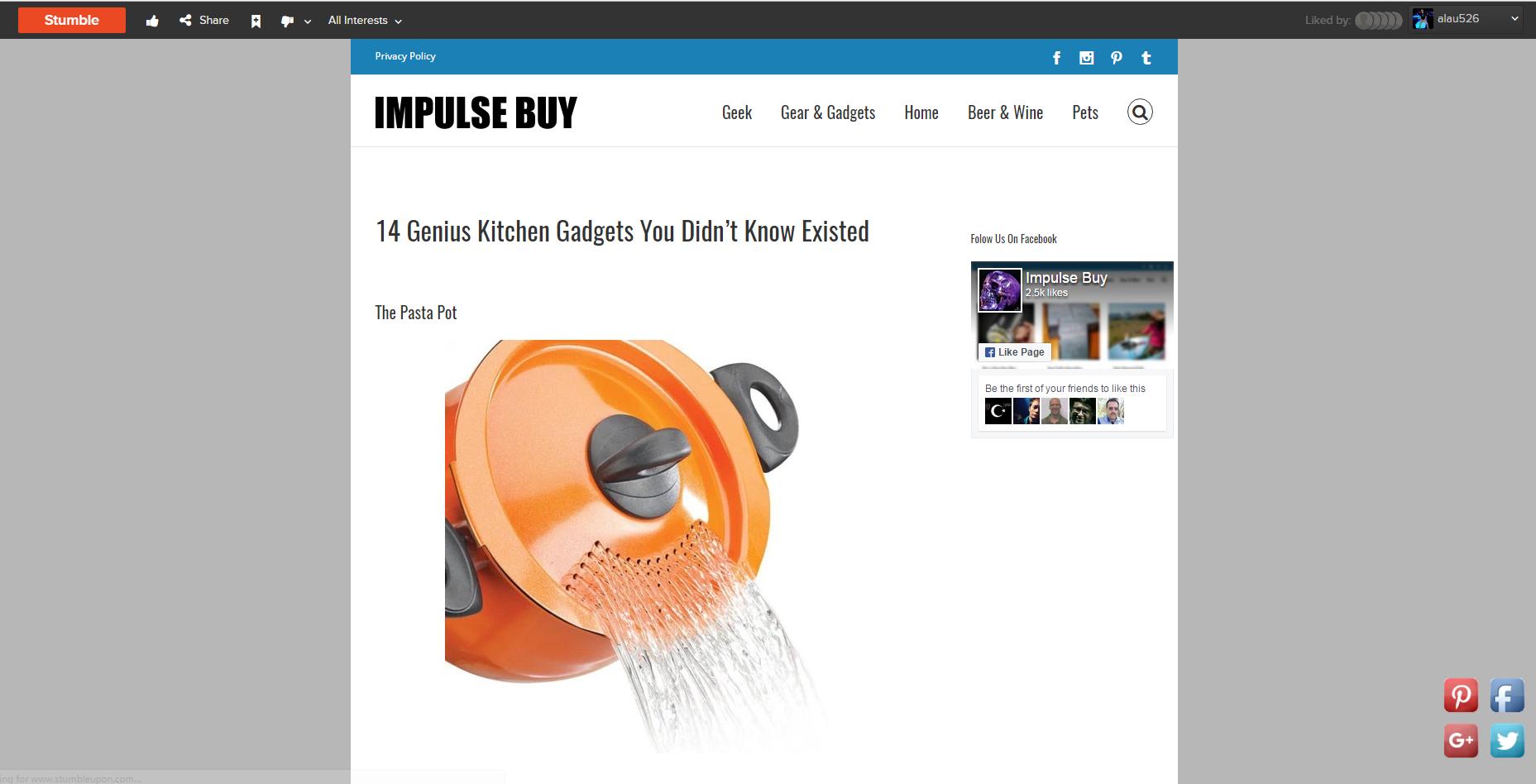promote your blog using stumbleupon