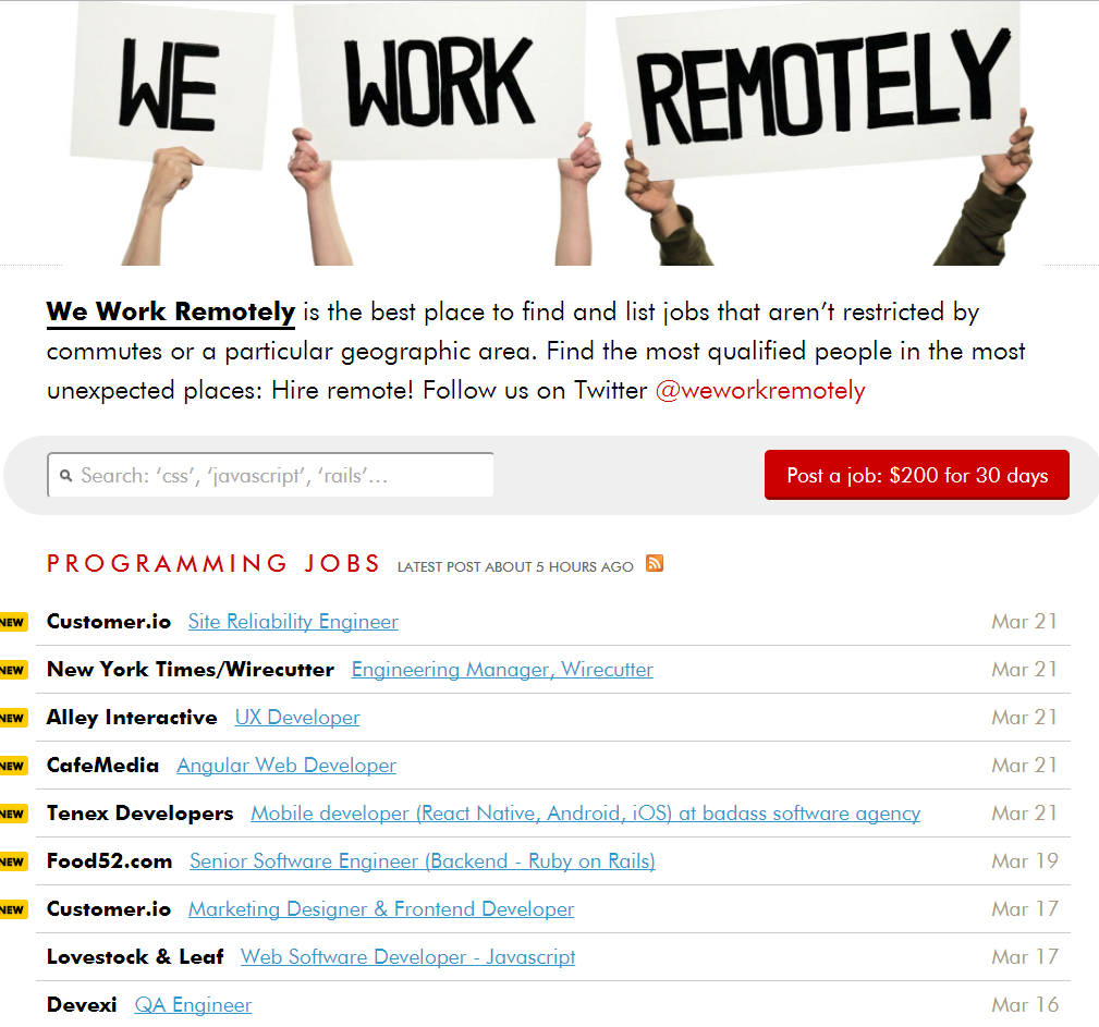 freelance websites we work remotely