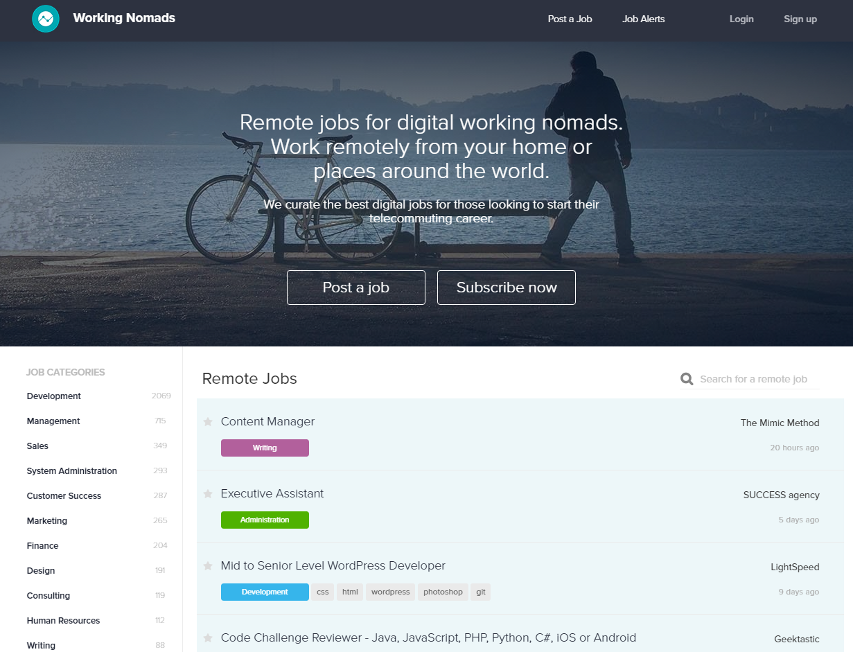 freelance websites working nomads