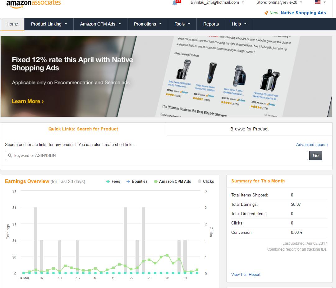 monetize your blog with affiliate marketing - amazon affiliates network
