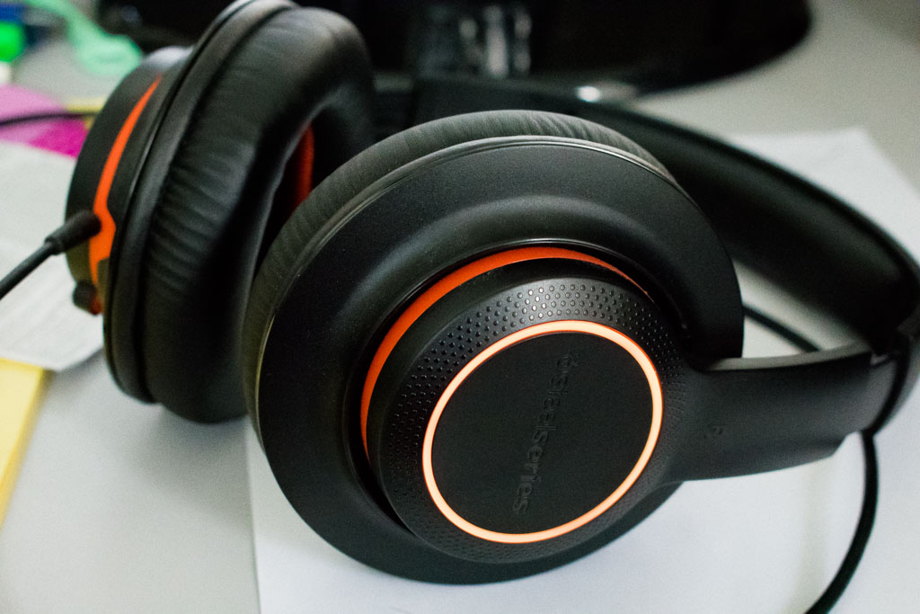 steelseries siberia 150 headset black and orange