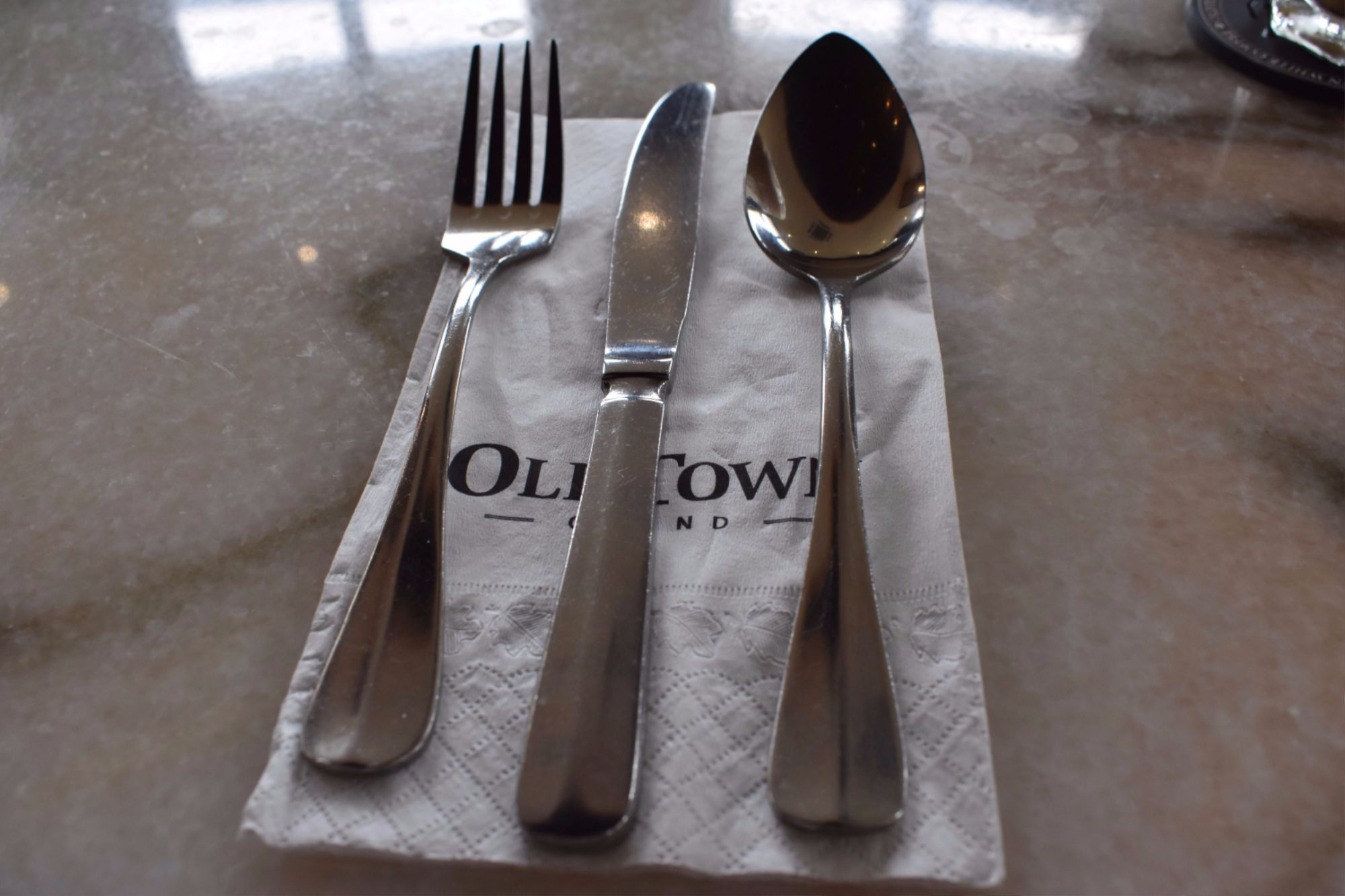 oldtown grand melaka serviette