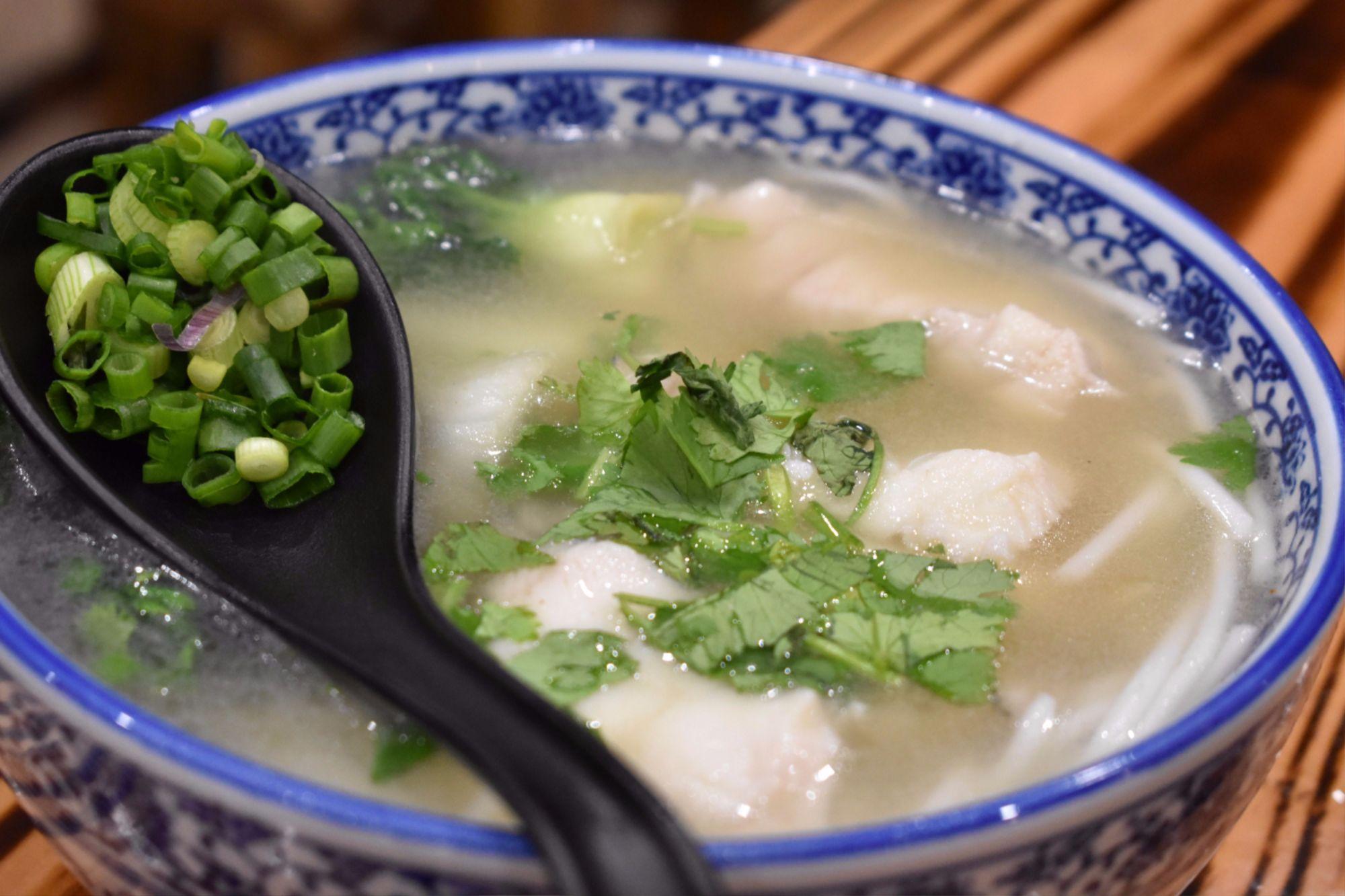 Go noodle house noodles soup fish