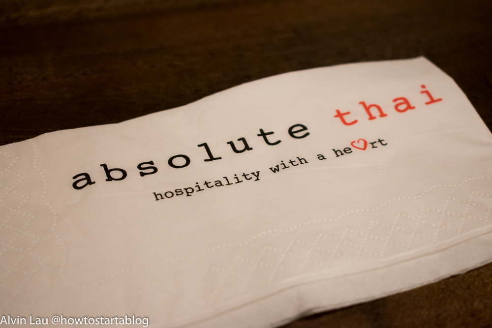 absolute thai genting premium outlets napkin