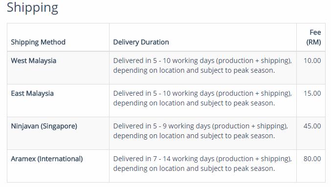 shipping printcious