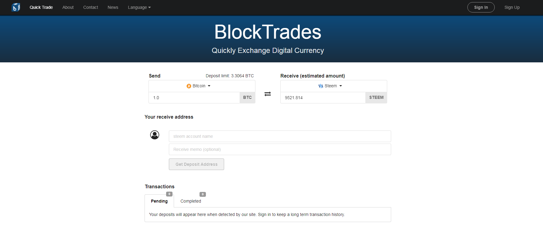 bitcoin exchanges - blocktrades