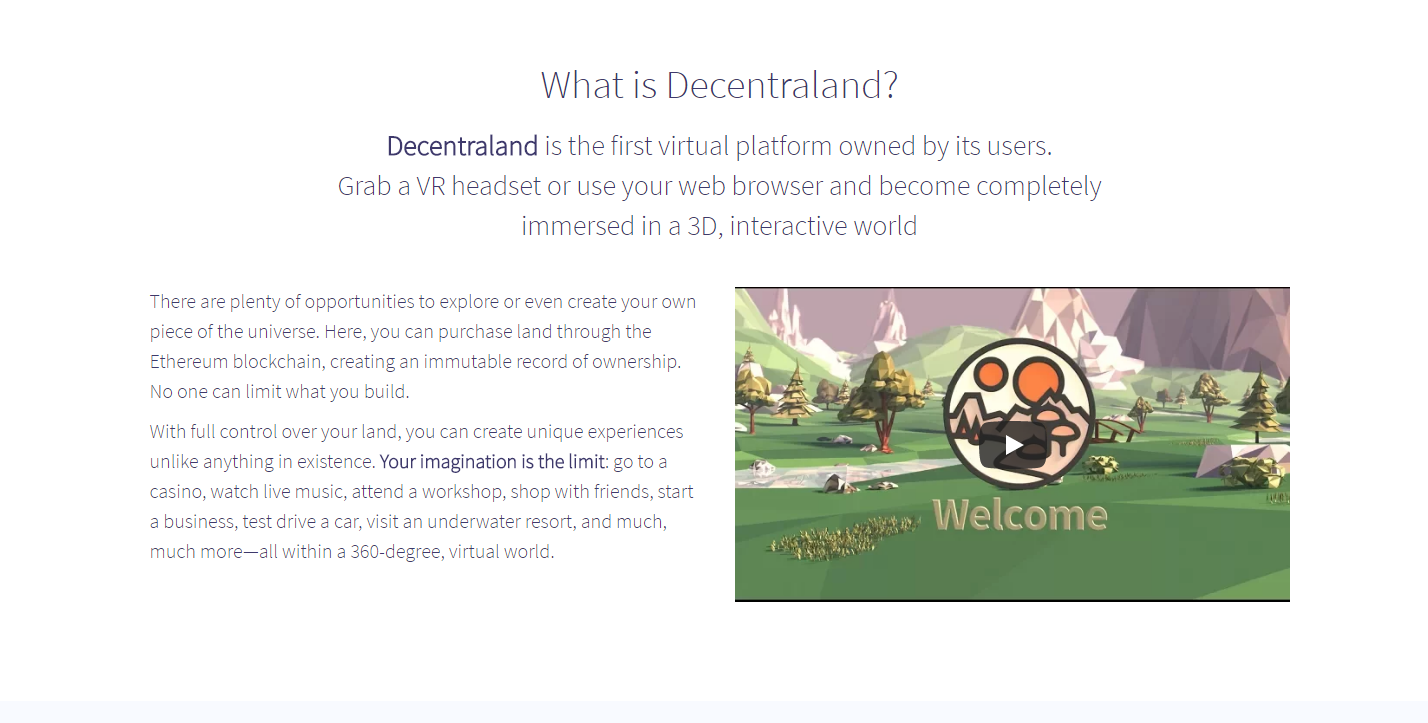 virtual reality cryptocurrency