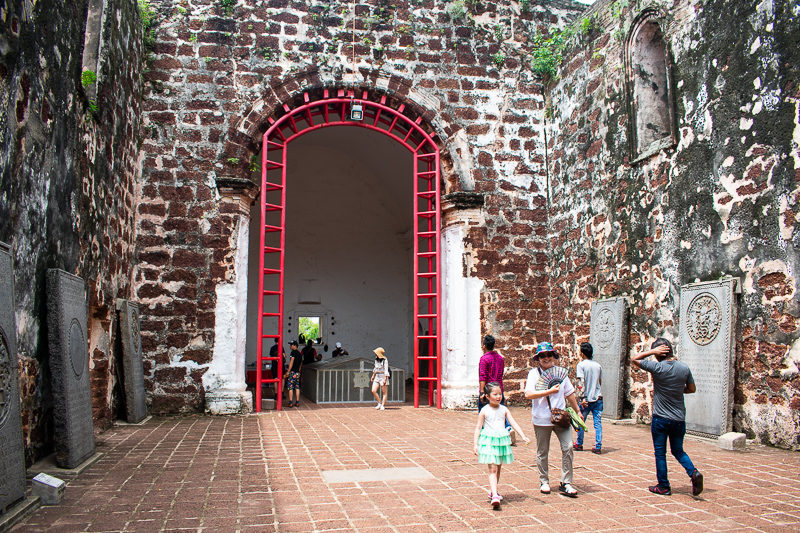what to do in melaka - st pauls hill