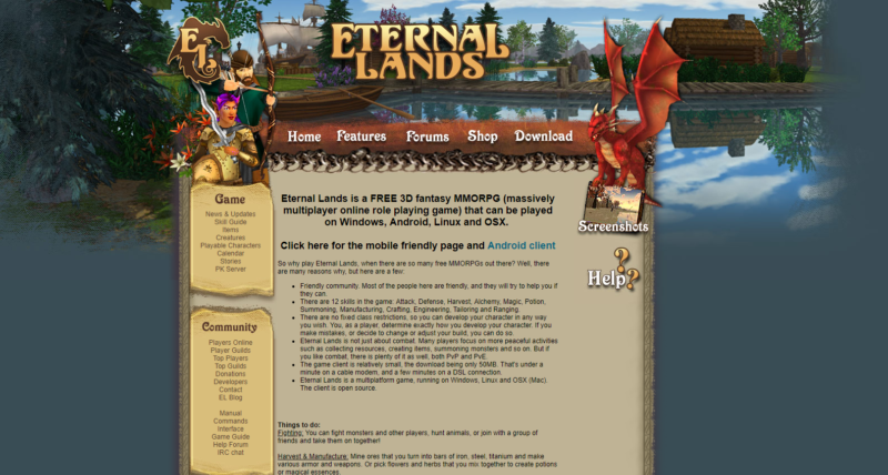 eternal lands game