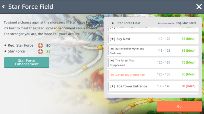 maplestory m star force field guide