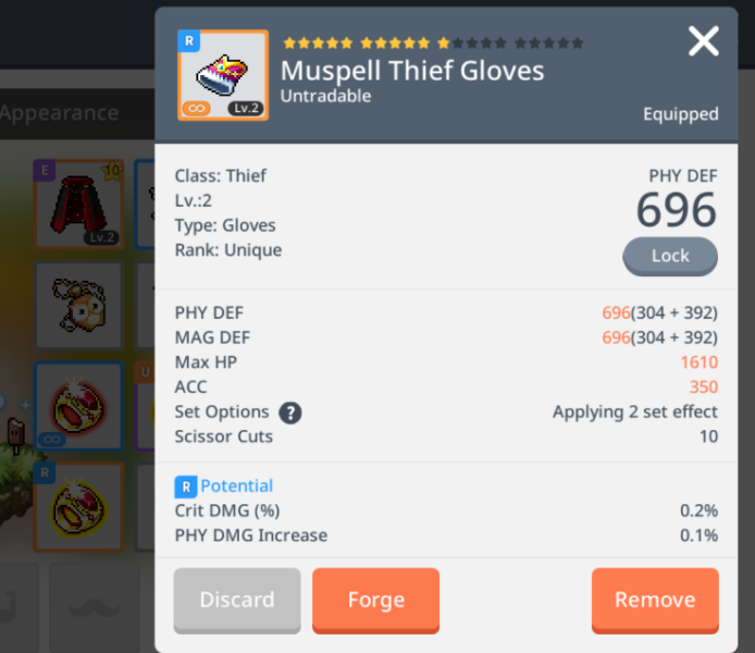 best gloves for nl maplestory m