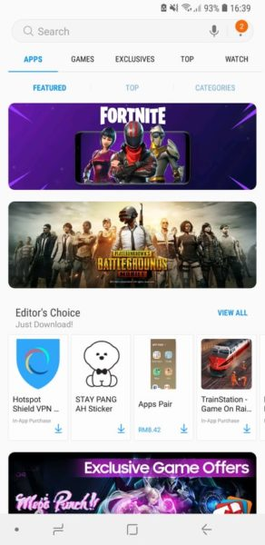 download fortnite on galaxy apps