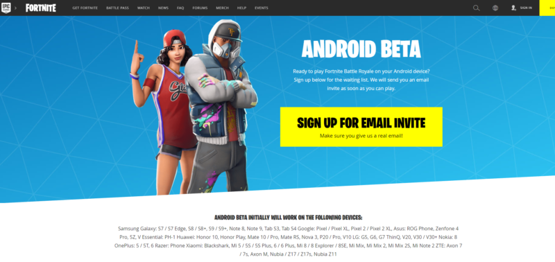 how to install fortnite beta on android