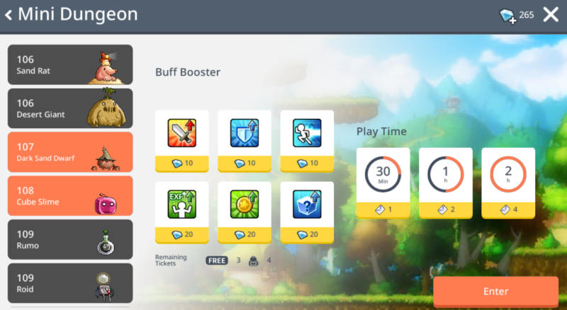 ways to gain exp in maplestory mobile