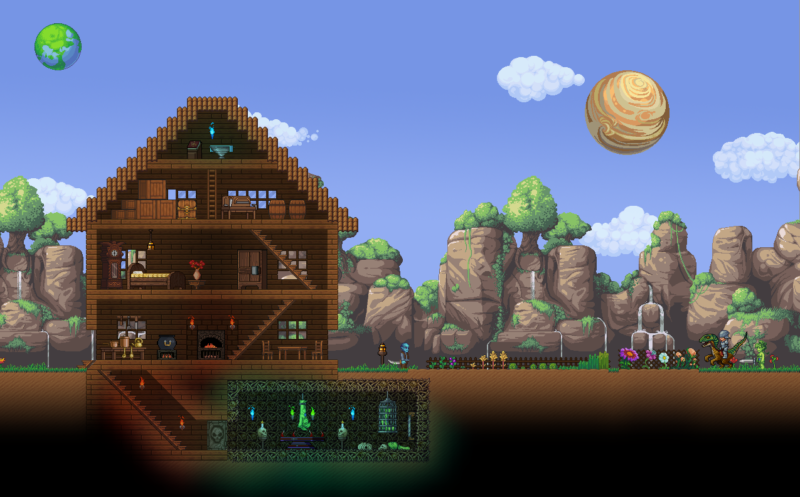 games like terraria and starbound