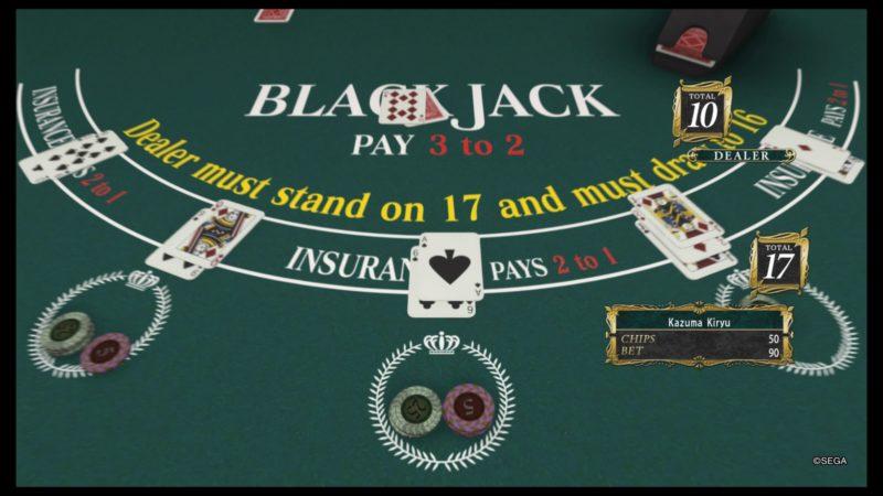 yakuza kiwami 2 blackjack