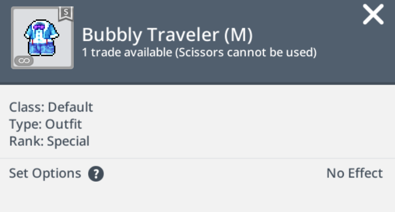 bubbly traveler male