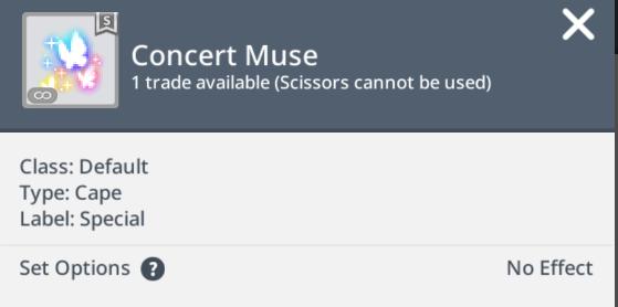 concert muse cape