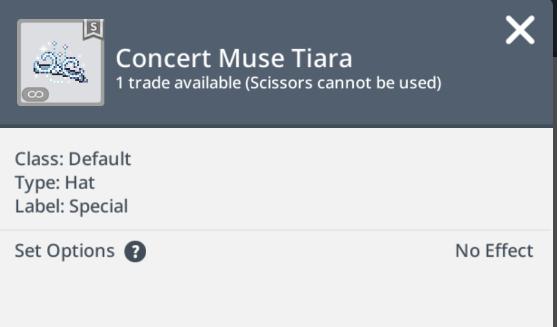 concert muse tiara