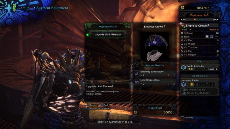 monster hunter world how to augment