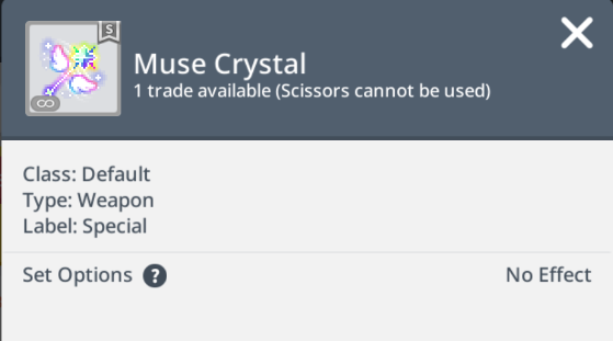 muse crystal cape