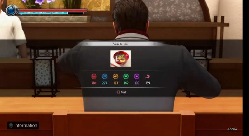 yakuza kiwami 2 eating
