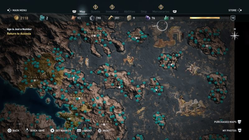 Assassin S Creed Odyssey Karte.Assassin S Creed Odyssey All Orichalcum Locations How To Get Them