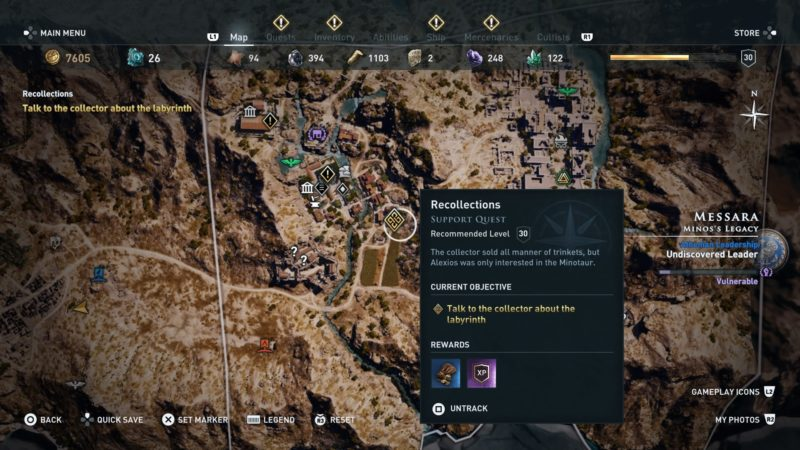 Assassin S Creed Odyssey Recollections Quest Walkthrough