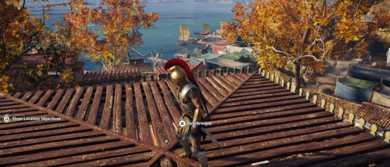 assassins creed odyssey synchronize location for fast travel