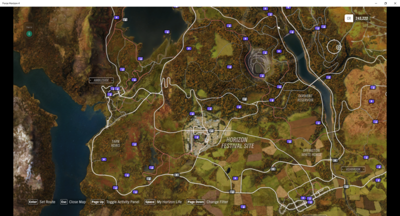 forza horizon 4 influence and fast travel board location