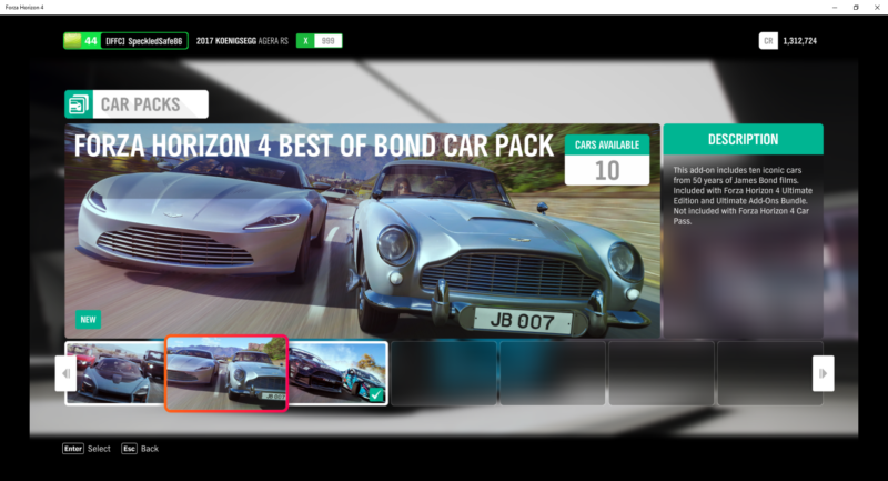 how to get james bond cars forza horizon 4