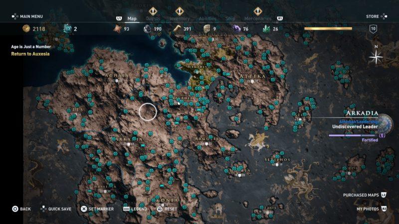 assassins creed odyssey orichalcum full map