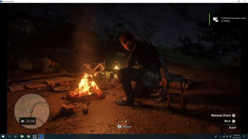 red dead redemption - start a campfire