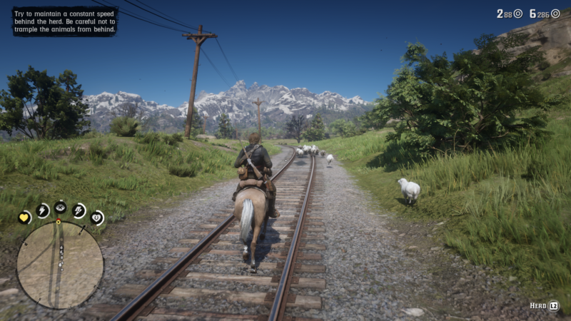 sheep herding - rdr2