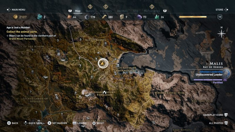 where to find bear ac odyssey