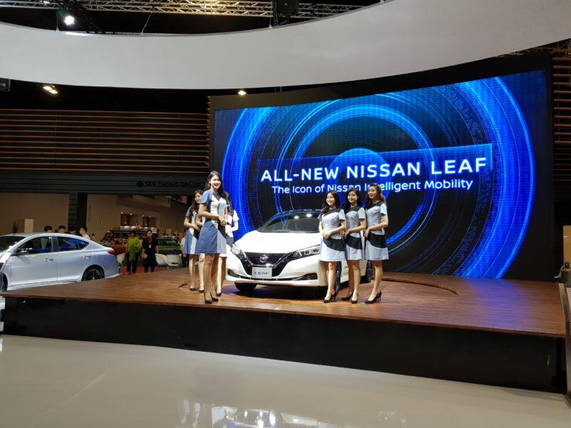 kuala lumpur international motor show 2018 nissan leaf
