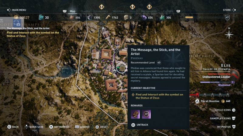 ac-odyssey-the-message-the-stick-and-the-artist-walkthrough