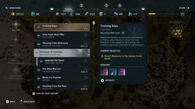 ac-odyssey-training-days-guide