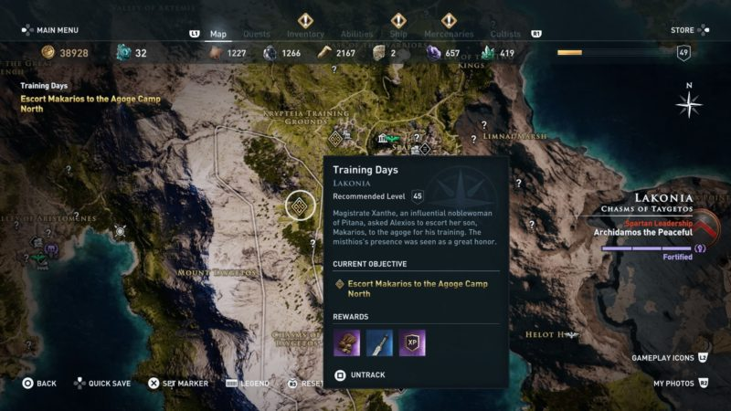 ac-odyssey-training-days-quest-guide