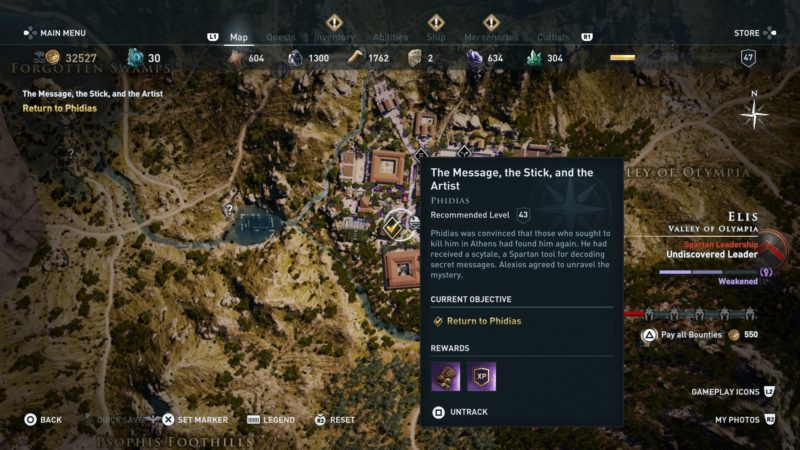 assassins-creed-odyssey-the-message-the-stick-and-the-artist-quest-guide