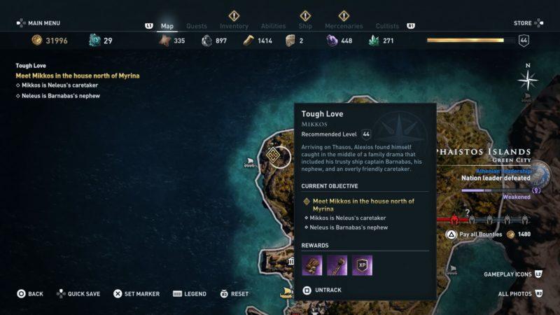 Assassin's Creed Odyssey: Tough Love (Quest Walkthrough)