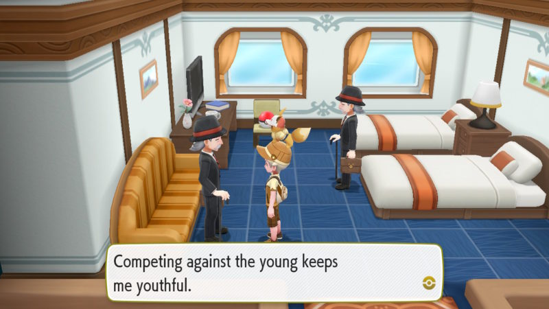 pokemon let's go s.s. anne fight trainers