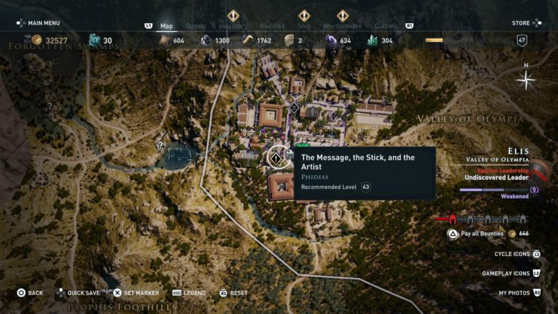 Ac Odyssey The Message The Stick And The Artist